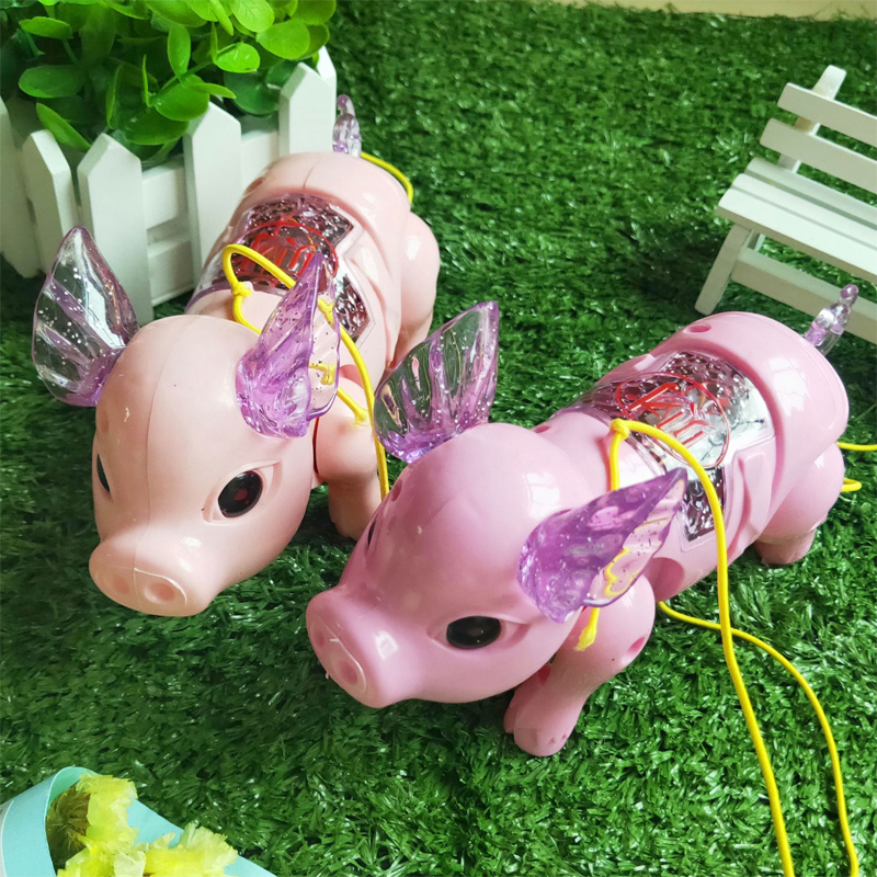 Cute Electric Music Walking Pig Toys LED Light Glow Electronic Pets Toy Kids Baby Funny Toys