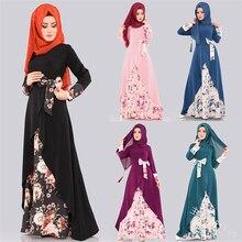 Muslim Dress Clothing Abaya Hijab Kaftan Djellaba Dubai Islam Women for Tesettur Elbise