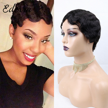 Human Hair Wigs For Black Women Pixie Cut Wig Human Hair 613 Blonde No Lace Wig Curly  Wigs
