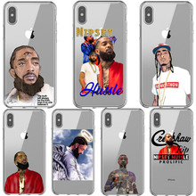 Rapper RIP Nipsey Hussle phone Case For iPhone XS XR MAX TPU Silicone Cover SE 5 5S 6 6SPlus 7 8 Plus Cases