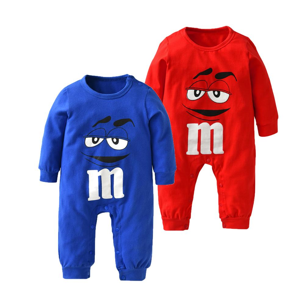 Newborn Baby Boys Girls Romper Cartoon Print Cotton Long Sleeve Jumpsuit Infant Clothing Pajamas Toddler Baby Clothes Outfits