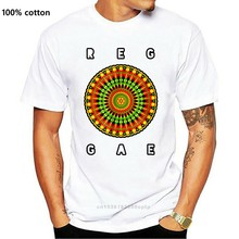 Camiseta mais novo 2019 moda masculina reggae music-jamaica dub rasta mandala jamaicana