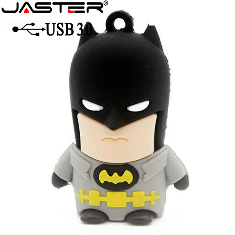 JASTER USB 3.0 Pen Drive 4GB 16GB 32GB 64GB USB Flash Drive Flash Memory PenDrive Cartoon Character Superman Batman USB Drive