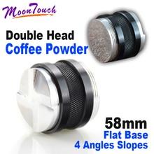 Double-head intelligent adjustable powder press 58MM cloth holder coffee tamper