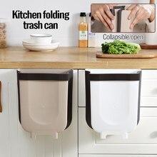 Nova Cozinha Dobrável Caixotes do Lixo Lata De Lixo Do Banheiro Porta Do Carro Dobrável Balde de Armazenamento De Lixo Resíduos de Banheiro Fixado Na Parede