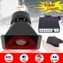 12V 150W Auto Hoorn Sirene Geluid 5 Tone Alarm Elektrische Hoorn Pa Speaker Systeem Megafoon Luid Voor Auto trein Boot Schip