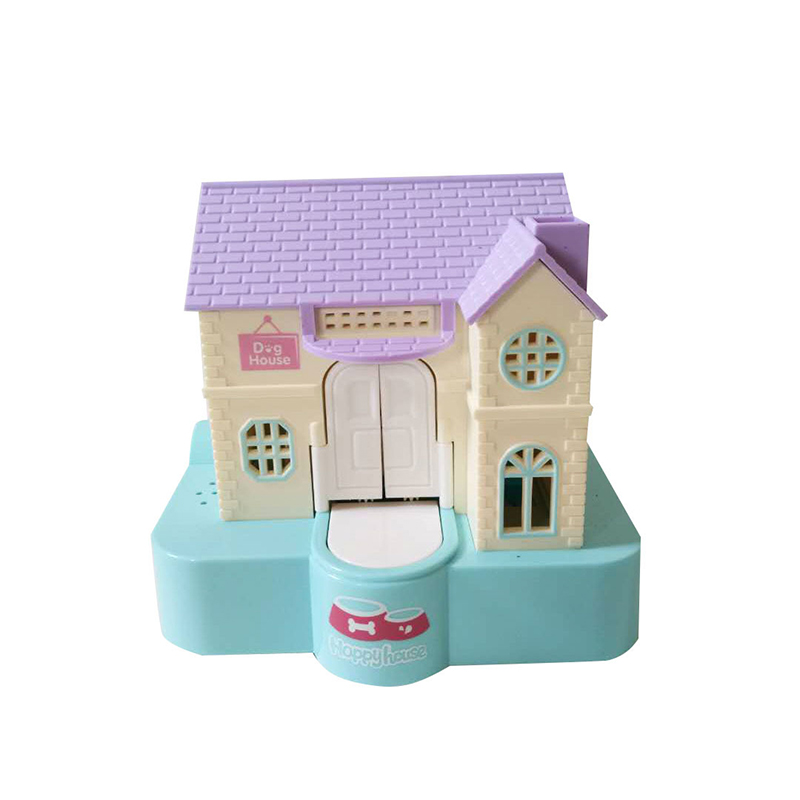 Cute Puppy Villa House Thief Piggy Bank Automatic Stealing Coin Saving Money Boxes Electric Sounding Funny Toys For KidsTY0468