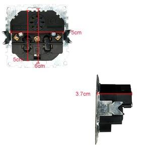 Image 2 - USB Soquete de Parede Frete grátis adaptador de parede padrão Europeu de Vidro Quente color16A 5v 2A saída conector cinza 250V FBW 19