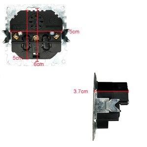 Image 2 - USB Steckdose Kostenloser versand Glas Hot Europäischen standard wand adapter 5v 2A stecker ausgang grau color16A 250V FBW 19