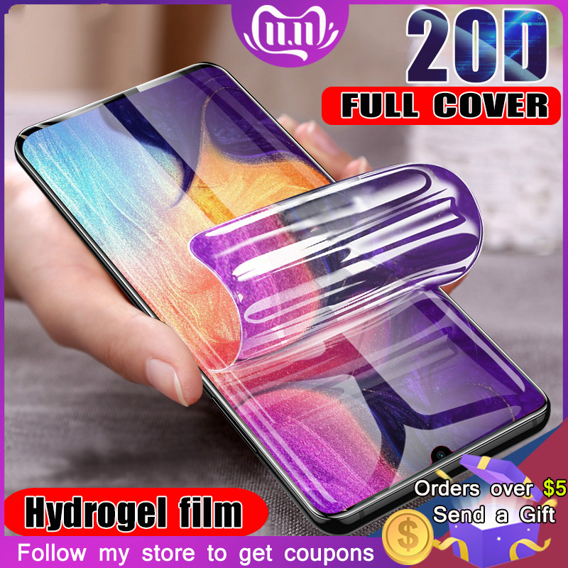 20D Hydrogel Film For Samsung Galaxy A10 A50 A30 A20 A70 A80 A60 M10 M30 A70S A40S A10S A10E A20E Screen Protector Soft Film