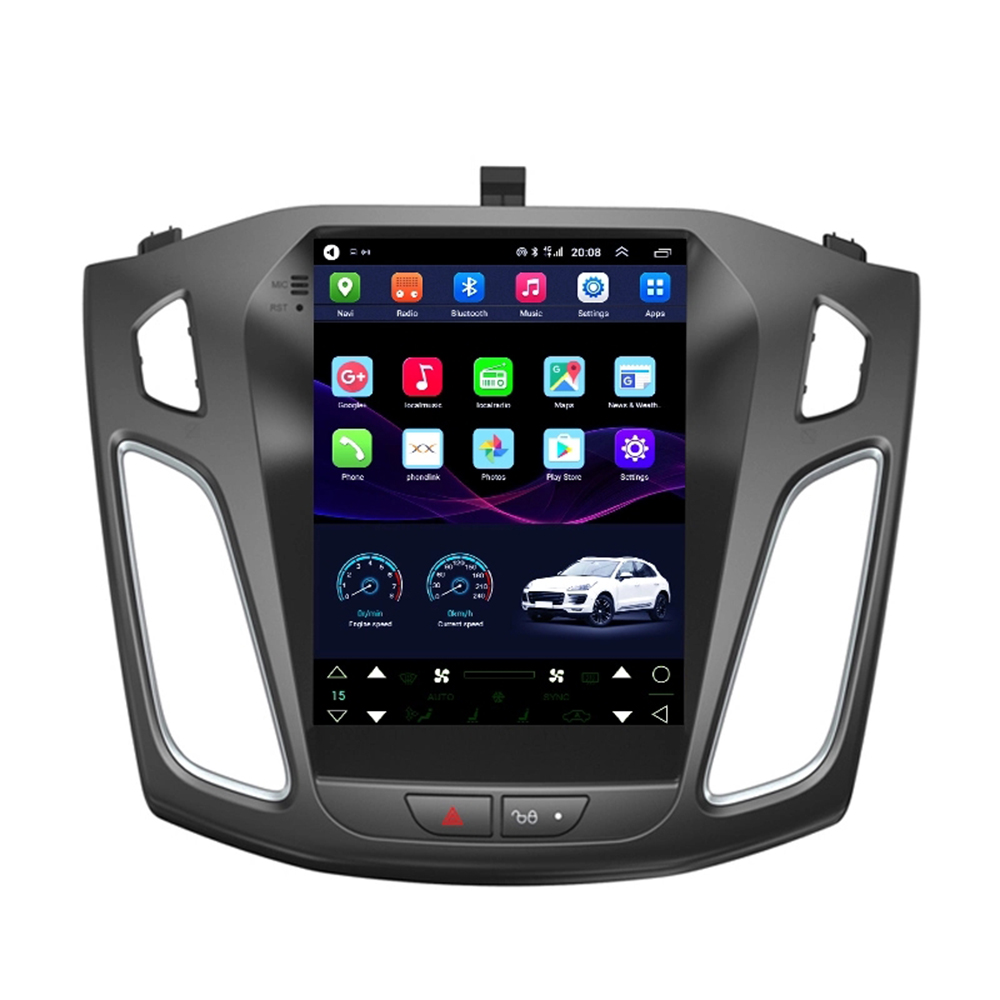 9.7 Tesla style Screen android 8.1 GPS car radio for Ford Focus 2012-2017 car multimedia bluetooth with 4g lte wireless Network image