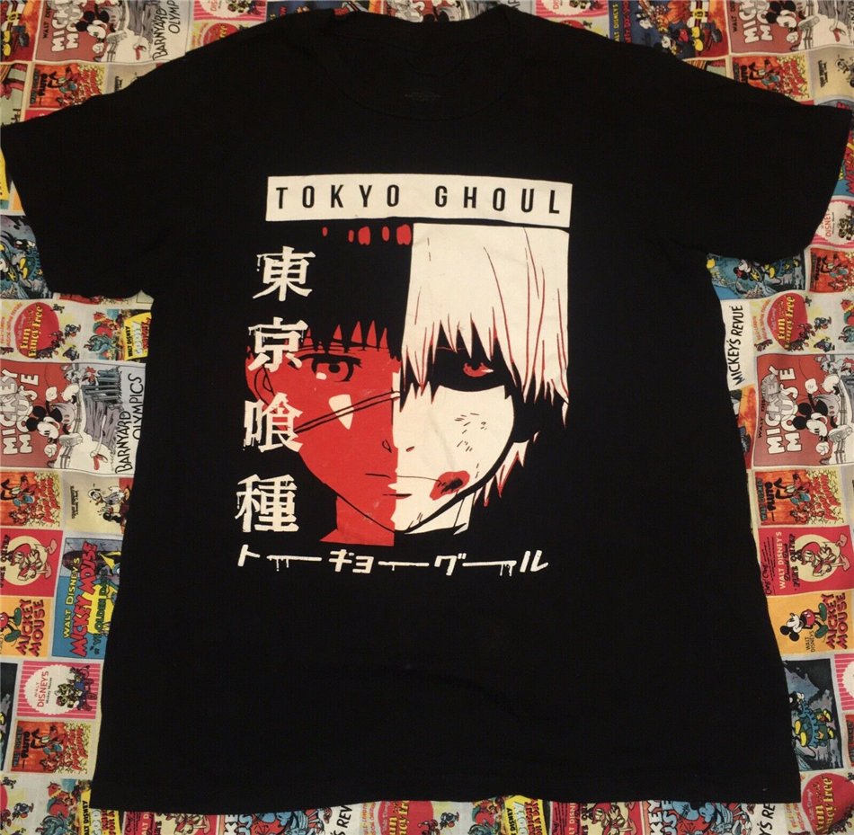 Tokyo Ghoul Anime Manga T Shirt Size Medium Funimation Kaneki Ken Cartoon Nice Loose Size Tee Shirt