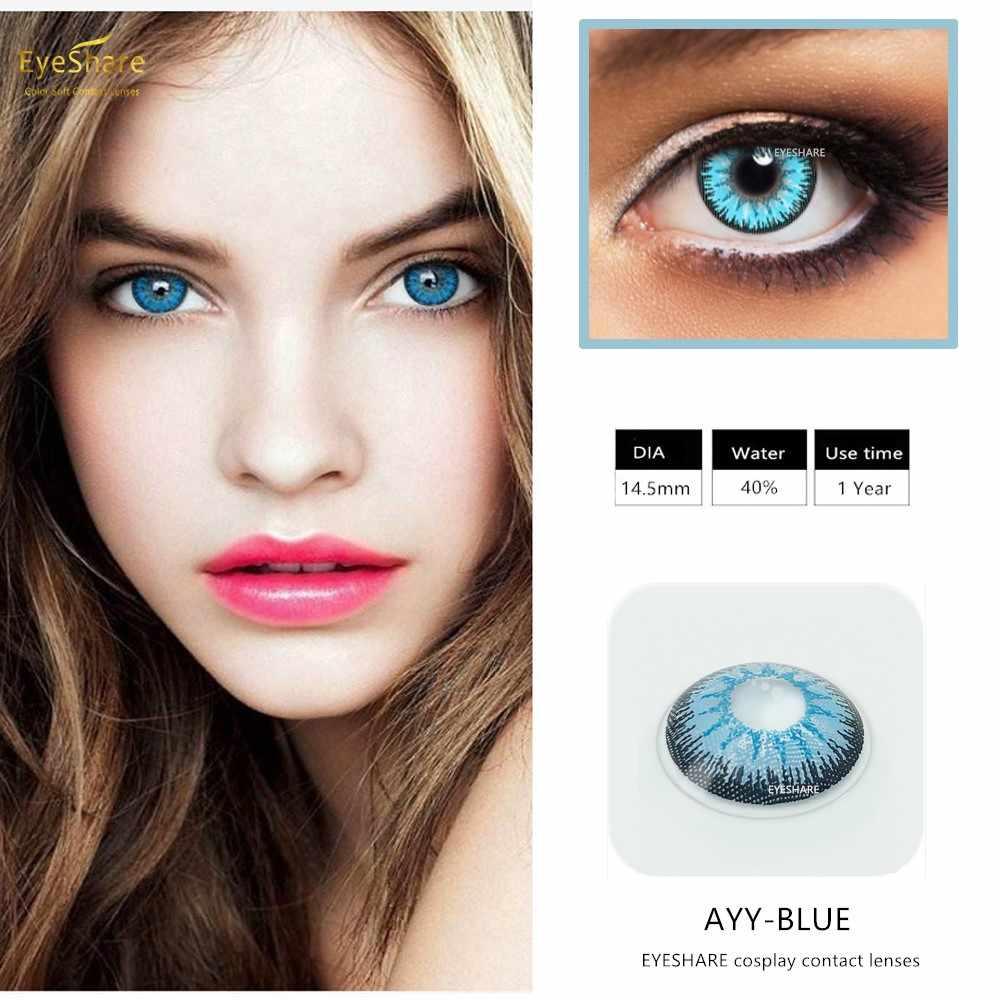 EYESHARE- 2 sztuk/para cukierki kolor roczny kolor kosmetyczny soczewki kontaktowe powiększ soczewki kontaktowe źrenic kolor oczu