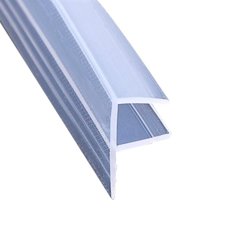 1M F U H Shape Glass Door Seals Silicone Rubber Shower Room Door Window Glass Seal Strip Weatherstrip 6 To 12 Mm Glass