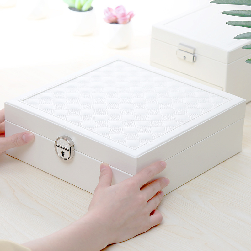 Jewelry Casket Necklace Rings Organizer Jewelry Box With Patterned Gift Boxes For Jewellery Bracelet Storage Bag
