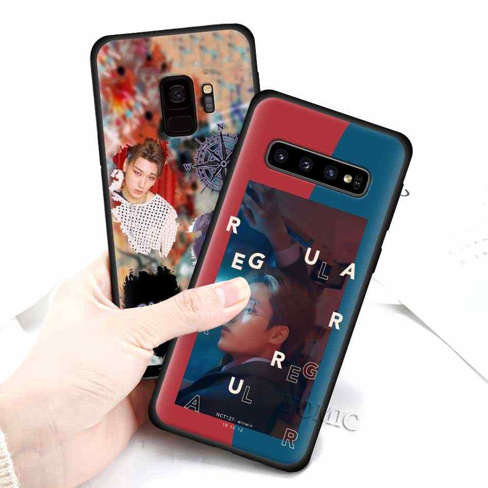 Ateez HongJoong SeongHWA samsung kılıfı Galaxy S10 S10e S9 S8 S7 kenar not 8 9 10 artı 5 5G siyah silikon telefon kapak yumuşak Coqu