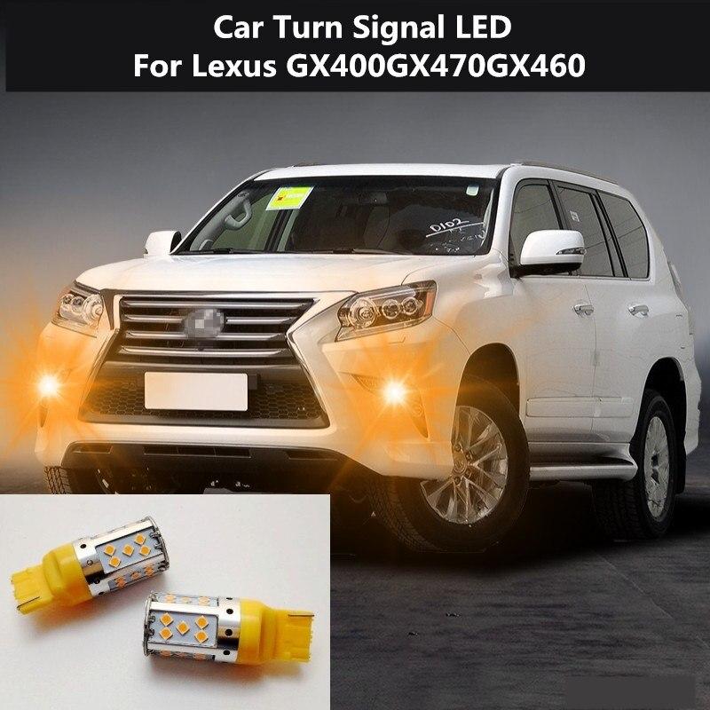 2PCS Car Turn Signal LED Command light headlight modification 12V 10W 6000K For Lexus GX400 GX470 GX460