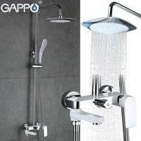 GAPPO bathroom shower set Wall mounted bath shower faucets Bathroom mixer tap torneira bathtub shower head with hand shower