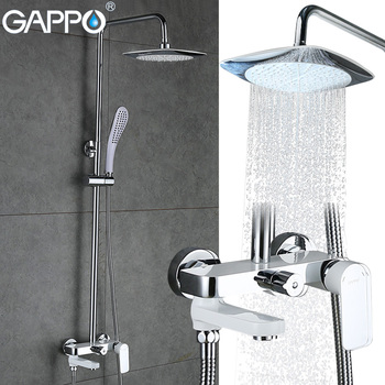 GAPPO bathroom shower set Wall-mounted bath shower faucets Bathroom mixer tap torneira bathtub shower head with hand shower jomoo shower head wall mounted bath shower chrome bathroom shower set hand shower with shower hose holder kit watering can