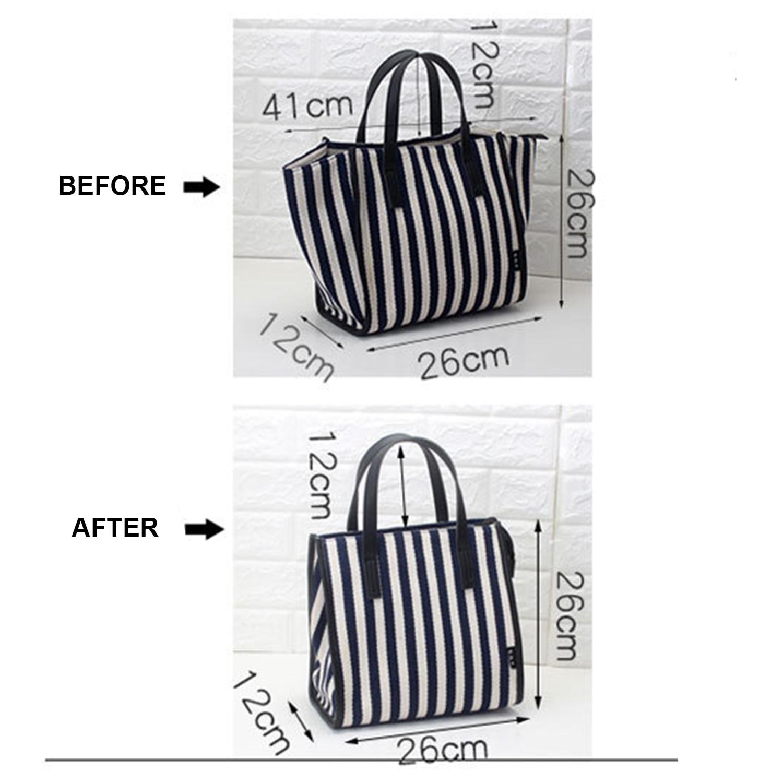 Woman's Shoulder Bags Striped Shopping Bags High Quality Canvas Slung Ladies Beach Handbags Large Capacity Durable Premium Black 3