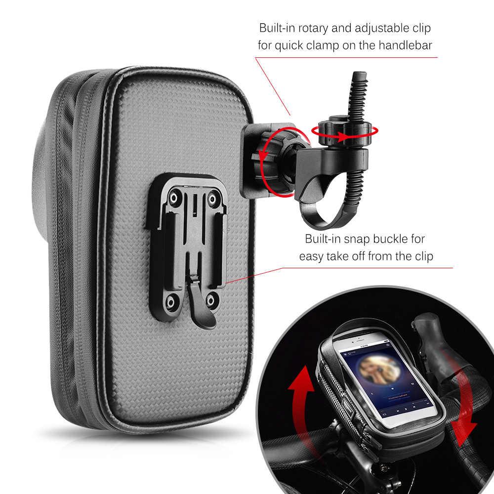 自転車電話の袋トップチューブバッグサイクリングフロントフレームバッグ電話ホルダーのタッチスクリーンバイク電話ポーチアウトドアスポーツ