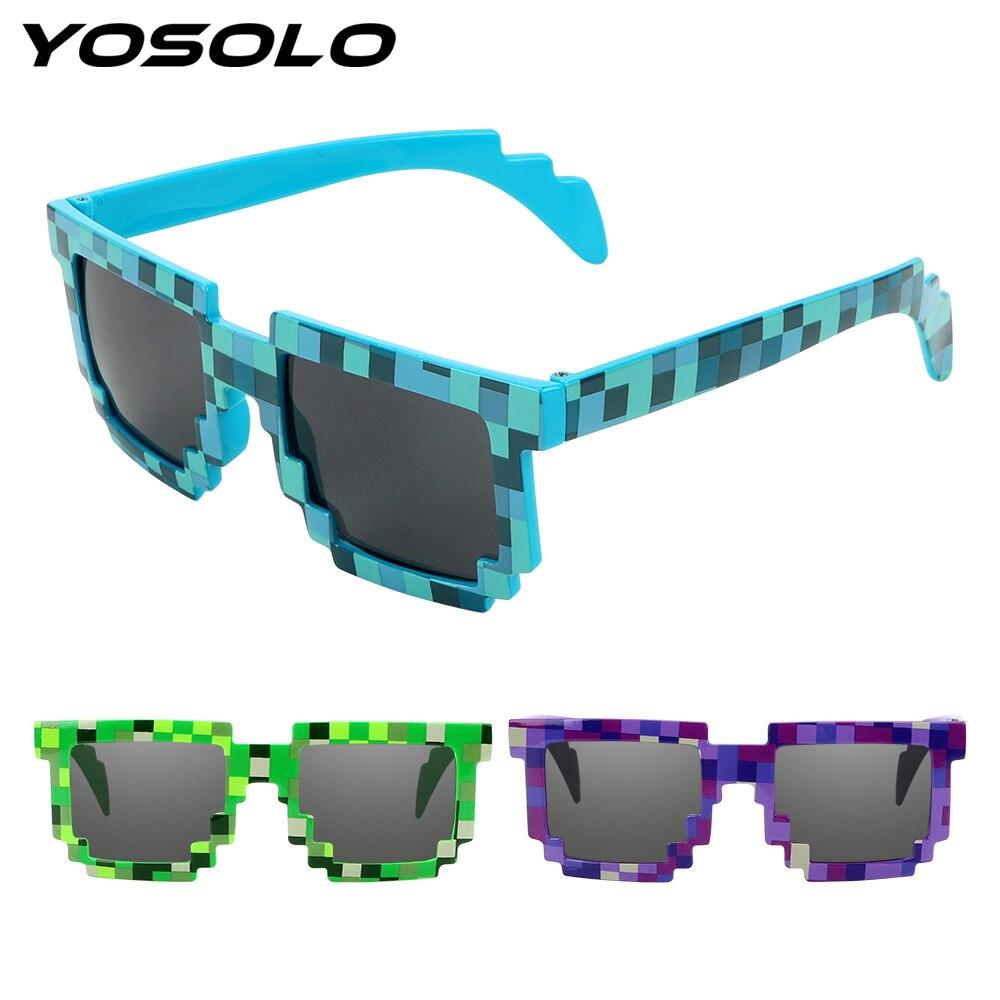 YOSOLO UV Protection Motocross Bike Racing Glasses Protective Gear Motocycle Sunglasses Eyewear Pixelated Sunglasses