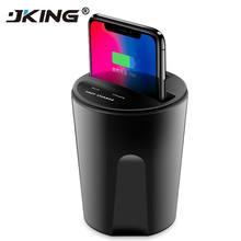 Fast Wireless Car Charger Cup for Samsung S9 S8 Note10 9 Qi Wireless Charging Car Cup for iPhone XsMax/Xr/8plus 10W Universal