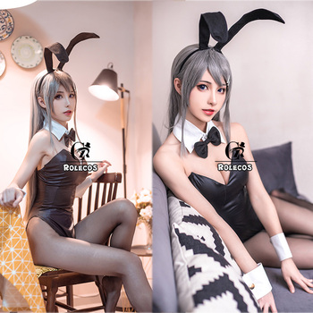 ROLECOS Anime Sakurajima Mai Cosplay Costume Halloween Women Black Sexy Jumpsuit Rascal Does Not Dream of Bunny Girl Senpai Cos 1