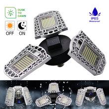 E27 LED Spotlight Waterproof Lamp Bombilla Inteligente LED Deformable Lamp Faretto LED Esterno 220V 60W 80W  For Garage Lamp
