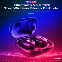 CBAOOO TWS Bluetooth 5.0 Headphones Stereo Wireless Sports Headset Hands-free Game with Microphone