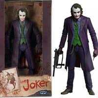 30cm NECA caballero oscuro payaso Heath Ledger Joker caja mano modelo 12 hombre de acción figura de muñeca Mini figuras juguetes de modelo