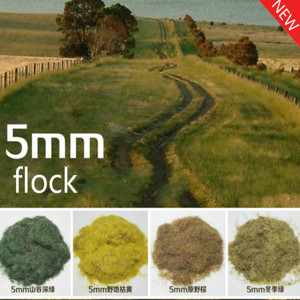 Miniature Scene Model Materia Withered Green Turf Flock Lawn Nylon Grass Powder STATIC GRASS 5MM Modeling Hobby Accessory