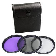 3 pces uv cpl 3 em 1 lente filtro conjunto com saco câmera cor lente uv protetor filtro substituição