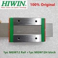 1pc guia Original Hiwin linear MGW12 150 200 250 300 330 350 400 450 500 550 600 milímetros trilho + 1 MGWR12 pc MGW12H bloco carriage CNC