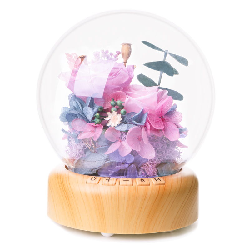 Party Wedding Valentine Gift Bluetooth Player Rose In Glass Dome Beauty Rose Forever Rose Preserved Rose Special Romantic Gift