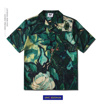 Tropical rain forest Fashion Short Sleeve Shirt Men 2020 Summer Hawaii Hip Hop Streetwear Male CSD06