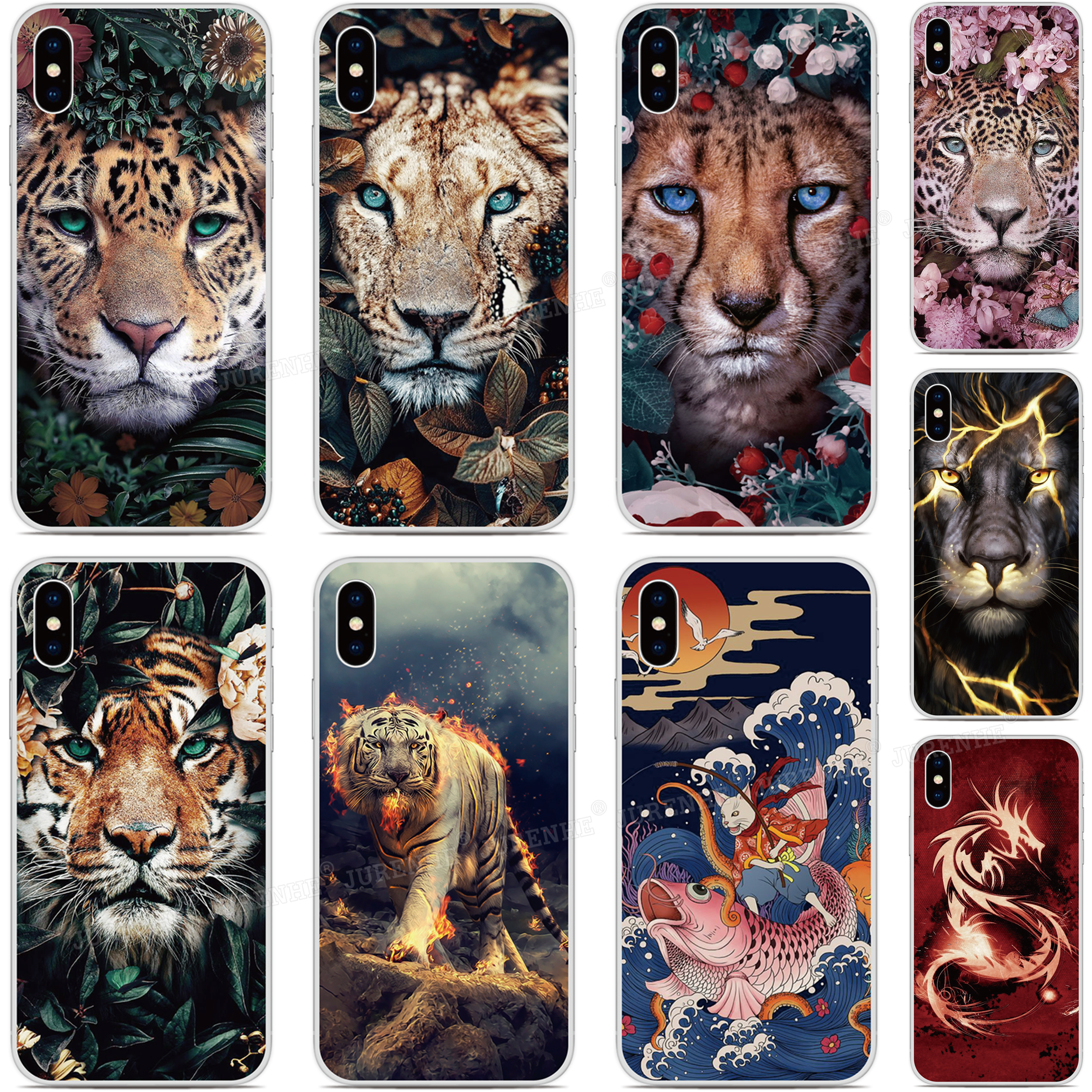 Flower Dog Tiger Dragon Phone <font><b>Case</b></font> For <font><b>Ulefone</b></font> Note 7 , Note 7P , Power 6 S10 <font><b>S1</b></font> Pro S7 Silicone Back Protection <font><b>Case</b></font> image