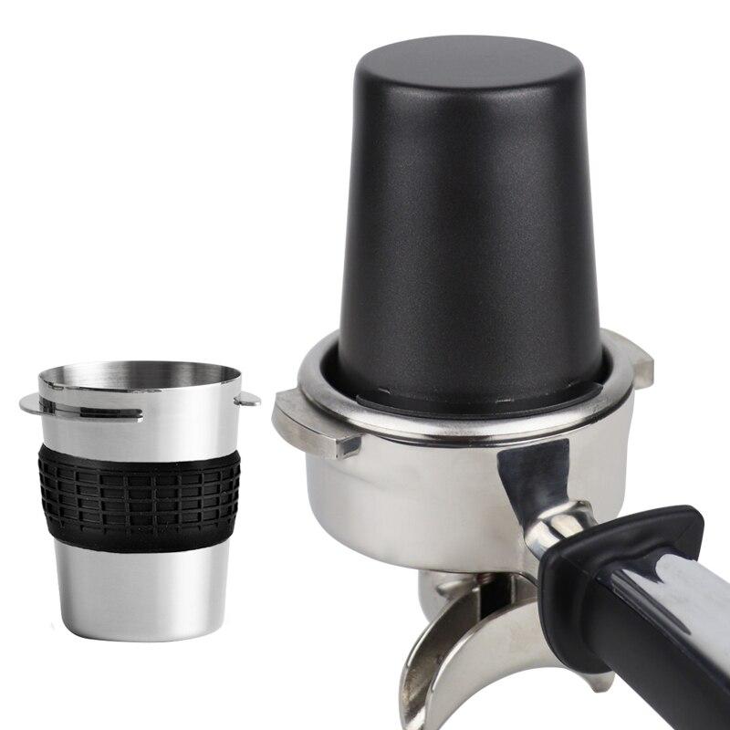 Поддержка дропшиппинг Нержавеющаясталь Кофе кружка-дозатор контейнер для порошка запасная часть для 58 мм кофеварка для приготовления эсп...
