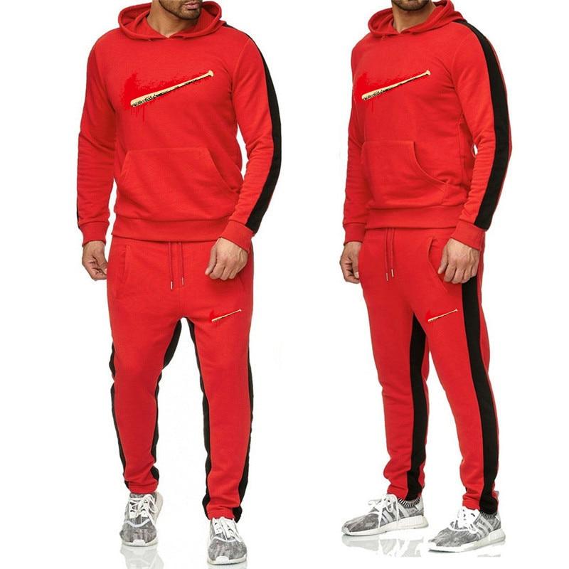 Winter Season Hot Sale Men's Sets Sweatshirt+pants Two Pieces Sets Casual Tracksuit Male Tshirt Gyms Fitness Trouser