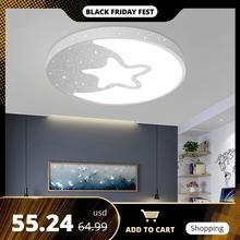 LED tavan lambası Modern lamba paneli yıldız aydınlatma armatürü çocuk yatak odası salonu yüzey montaj gömme uzaktan kumanda çocuklar