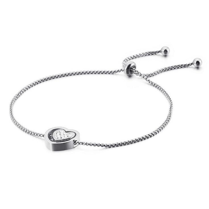 Silver Chain Bangle Bracelet Fashion Women Jewelry Gift BTS011