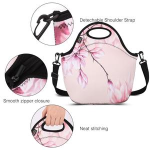 Image 4 - Insulated Lunch Bag, MOKO Neoprene Lunch Tote Reusable Picnic Bag Soft Thermal Cooler Tote Multi purpose Grocery Container
