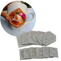 New European-style Lace Frame Designer DIY Clay Photo Frame Silicone Mold Stampo Cemento Moule Silicone Concrete Molds