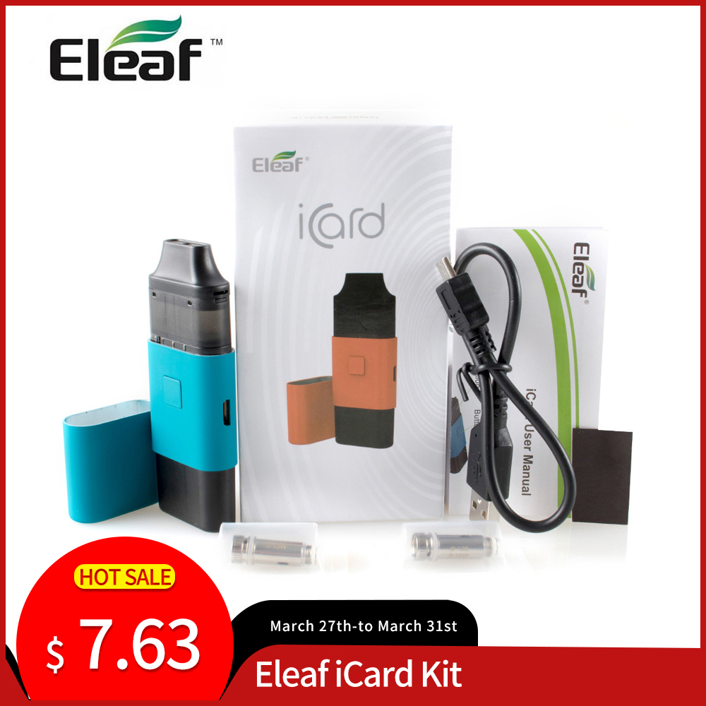 [US/R] Original Eleaf ICard Kit 15W Built In 650mAh Battery With 2ml Cartridge ID 1.2ohm Coil Electronic Cigarette Vape
