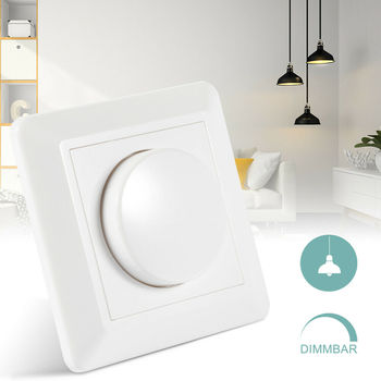 220V LED Dimmer Switch Dimming Speed Controller For Dimmable Ceiling Light Downlight Spotlight EU plug