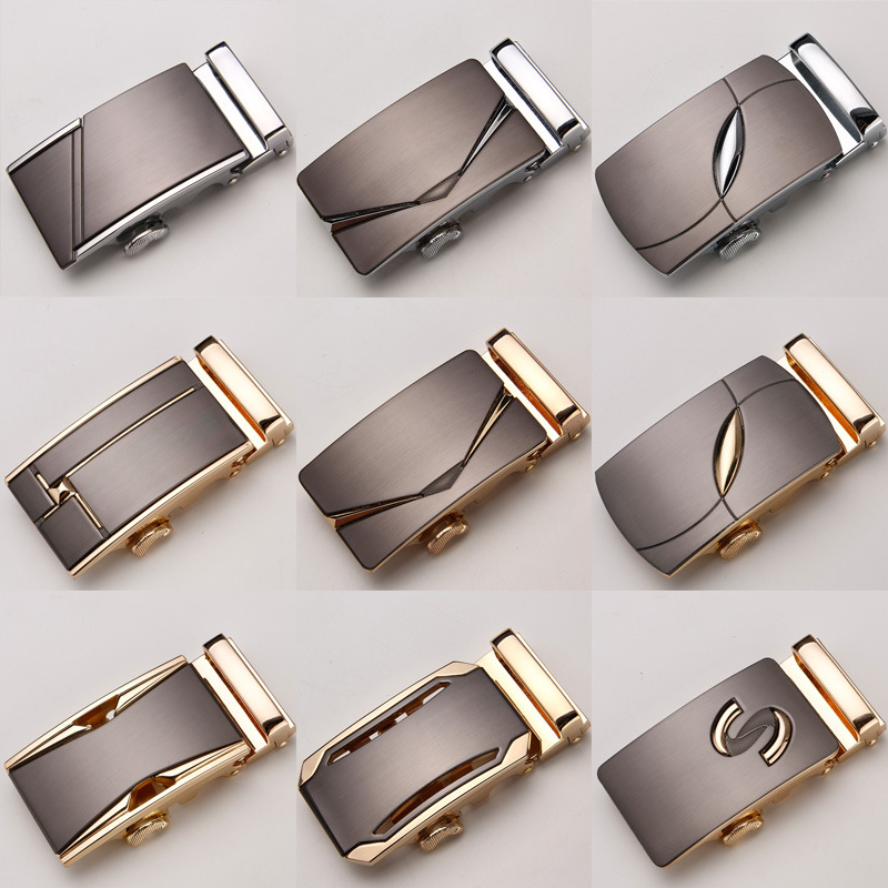 Men Belt Buckle Automatic Buckle Leather Belt Waist Taping Head Men's Trousers Taping Business Casual 3.5cm Alyx Belt Buckles
