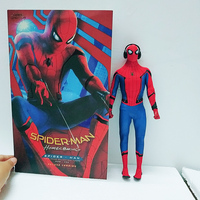 30cm HC Hot Toys Compatible Marvel Avengers Spiderman Hero BJD Joints Moveable Action Figure Model Toys Doll For Gift
