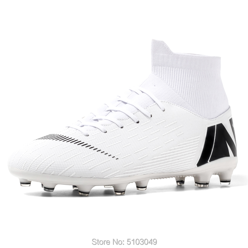 football boots Hot Sale Mens Soccer Cleats High Ankle Football Shoes Long Spikes Soccer Traing Boots For Men Soccer Shoes kids title=