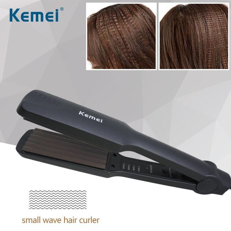 Kemei Electric Curling Iron 40W Hair Curler Temperature Adjustable Corn Hair Curler Tourmaline Ceramics Hair Styling Machine 40D