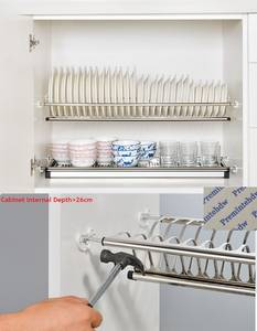 Holder Storage-Organizer Cabinet Dish-Plate Cupboard Drying-Rack Water-Collector 2-Tier